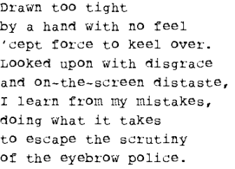 eyebrow police